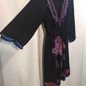 Flying Tomato Dresses - Flying Tomato black embroidered dress. Boho. Med